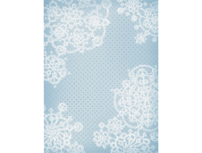 18 Count Aida Designer Fabric by MP Studia Blue with Snowflakes фото 1