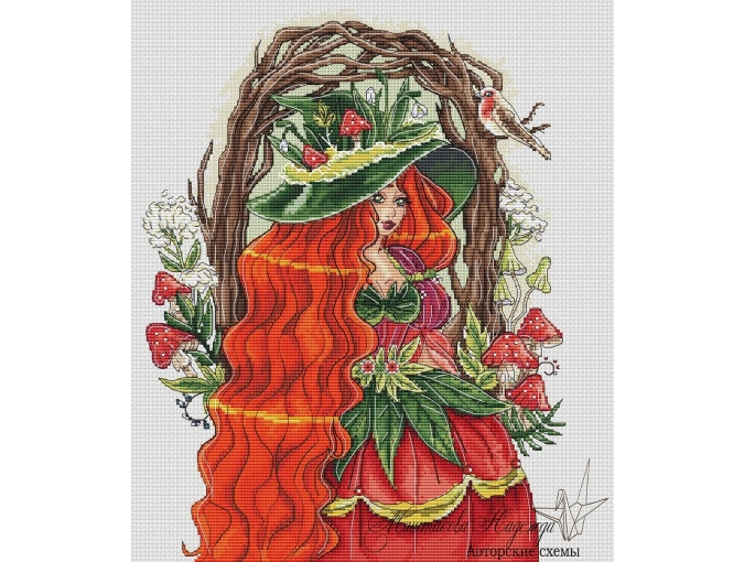 Forest Witch Cross Stitch Pattern фото 1