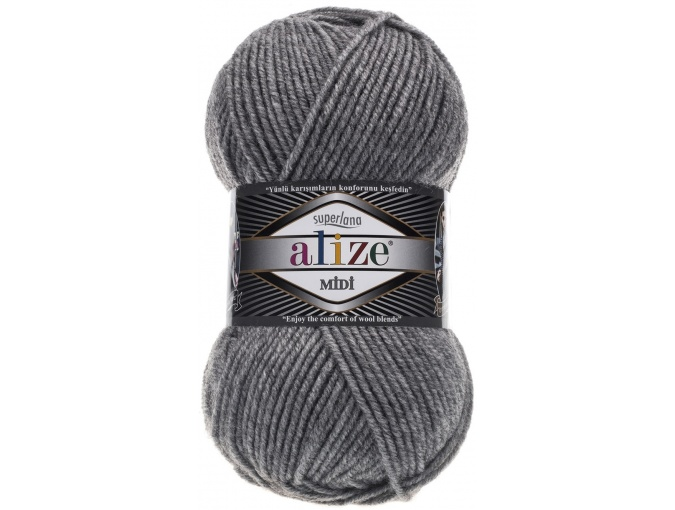 Alize Superlana Midi 25% Wool, 75% Acrylic, 5 Skein Value Pack, 500g фото 4