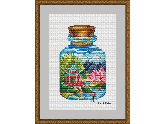 At the Foot of Fuji Cross Stitch Pattern фото 1