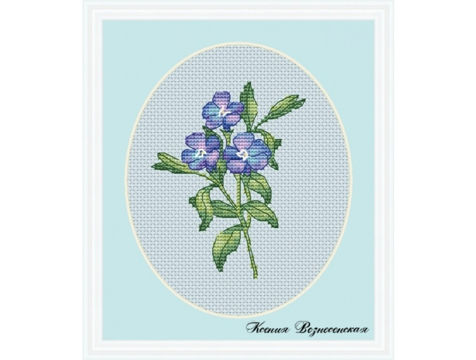 Periwinkle Cross Stitch Pattern фото 1