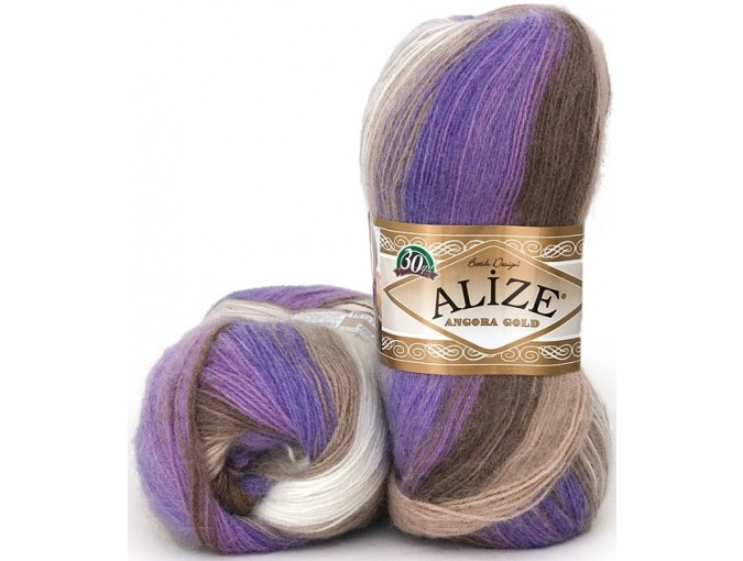 Alize Angora Gold Batik, 10% mohair, 10% wool, 80% acrylic 5 Skein Value Pack, 500g фото 28