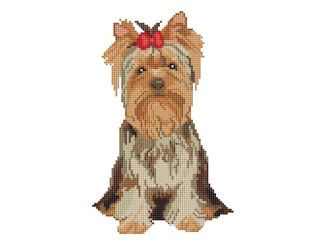 Yorkshire Terrier Cross Stitch Pattern фото 1