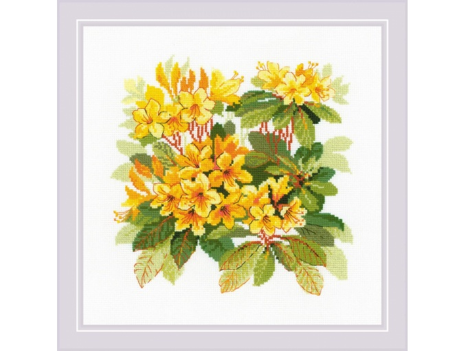 Rhododendron Cross Stitch Kit фото 1