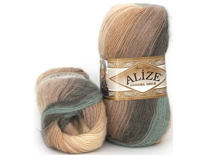 Alize Angora Gold Batik, 10% mohair, 10% wool, 80% acrylic 5 Skein Value Pack, 500g фото 37