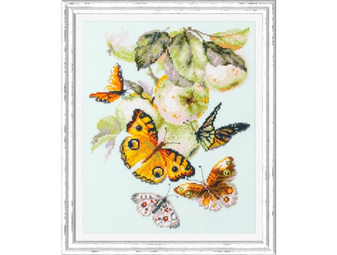 Butterflies and Apples Cross Stitch Kit фото 2