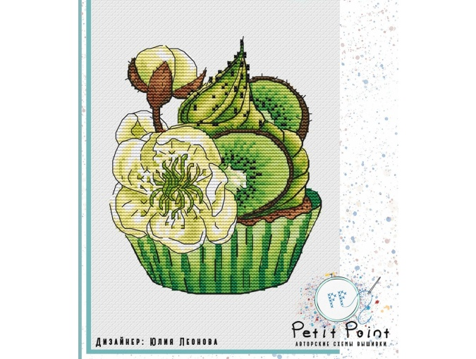 Kiwi Cupcake Cross Stitch Pattern фото 1