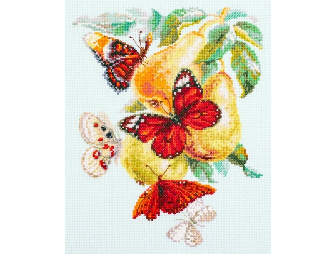 Butterflies and Pears Cross Stitch Kit фото 1
