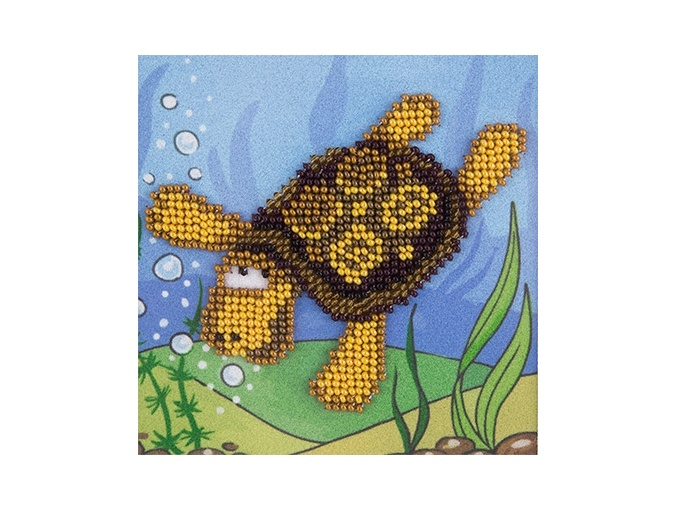 Turtle Bead Embroidery Kit фото 1