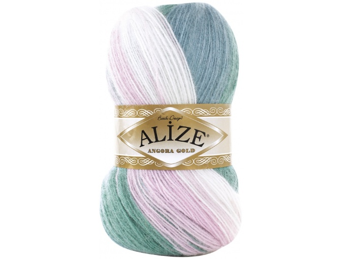 Alize Angora Gold Batik, 10% mohair, 10% wool, 80% acrylic 5 Skein Value Pack, 500g фото 69