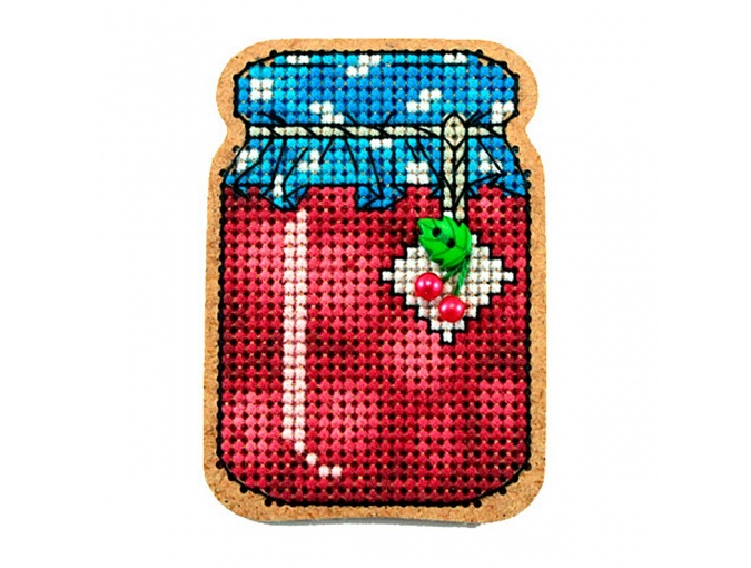 Cherry Jam Original Magnet Cross Stitch Kit фото 1