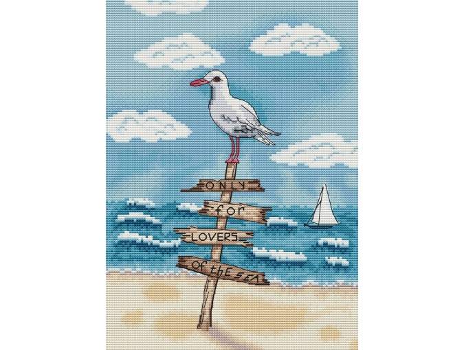 Gull Cross Stitch Pattern фото 1