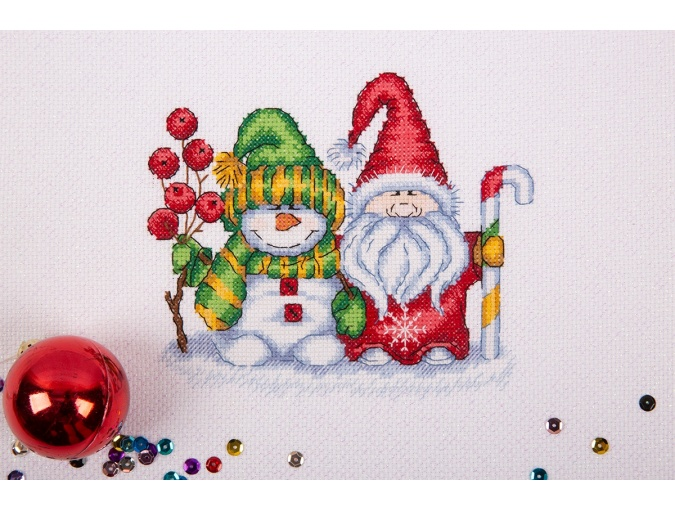 Winter Greetings Cross Stitch Kit фото 3