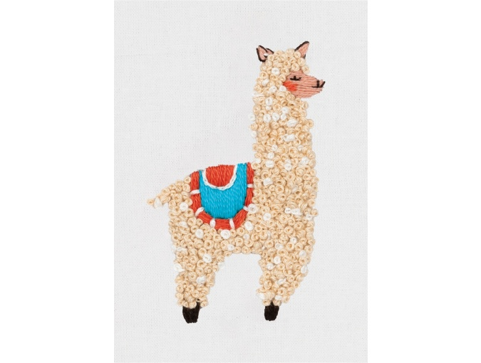 Little Llama Embroidery Kit фото 1