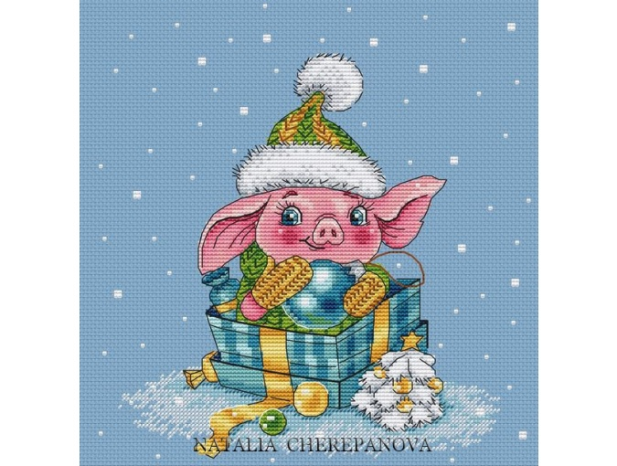 Piggy Nyusha Cross Stitch Pattern фото 1