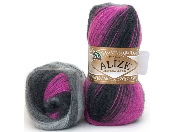 Alize Angora Gold Batik, 10% mohair, 10% wool, 80% acrylic 5 Skein Value Pack, 500g фото 26