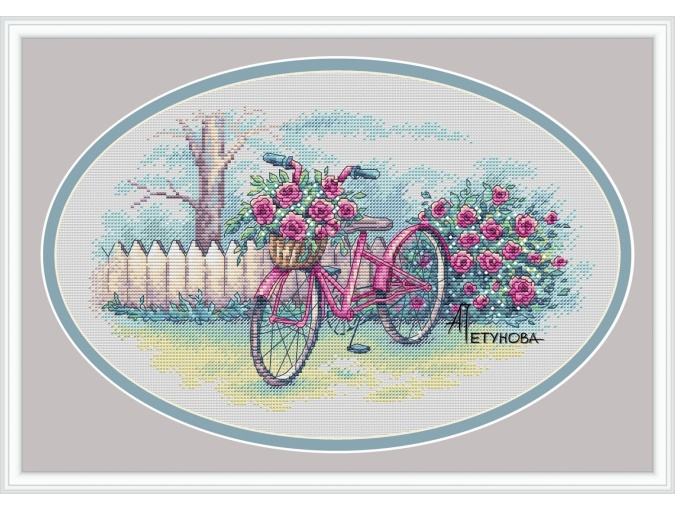 Summer Bicycle Cross Stitch Pattern фото 1
