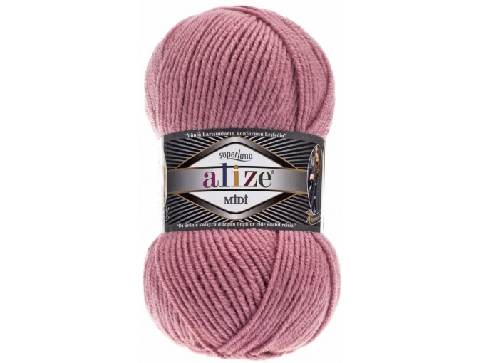 Alize Superlana Midi 25% Wool, 75% Acrylic, 5 Skein Value Pack, 500g фото 21