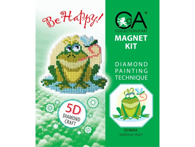 Frog Magnet Diamond Painting Kit фото 2