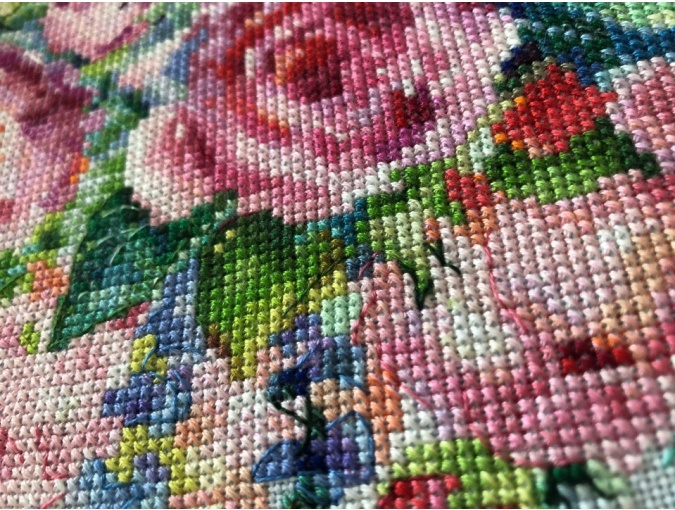 Bouquet of Roses Cross Stitch Chart фото 5