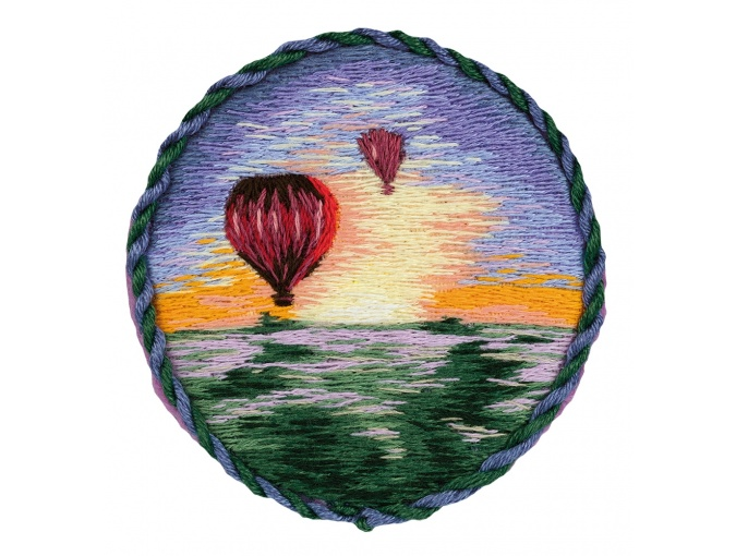 Air Balloons Brooch Embroidery Kit фото 1