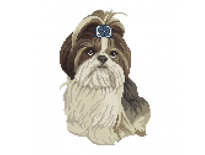 Shih Tzu Cross Stitch Pattern фото 1