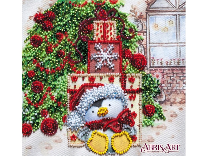 Under the Christmas Tree Bead Embroidery Kit фото 1