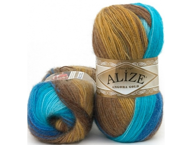 Alize Angora Gold Batik, 10% mohair, 10% wool, 80% acrylic 5 Skein Value Pack, 500g фото 53