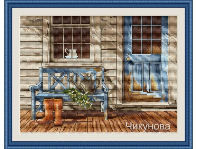 Country Sketch Cross Stitch Pattern фото 1
