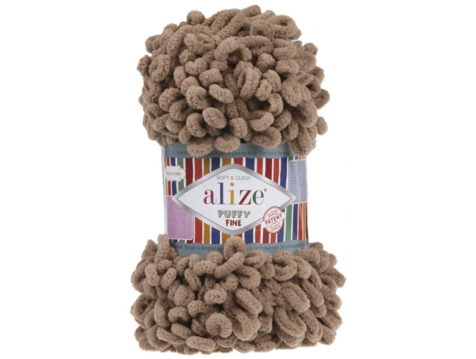 Alize Puffy Fine, 100% Micropolyester 5 Skein Value Pack, 500g фото 22