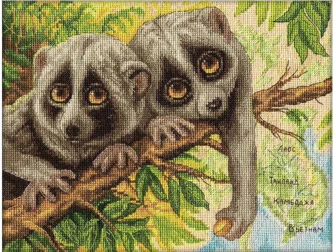 Modest Loris Cross Stitch Kit фото 1