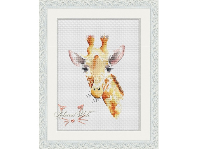 Giraffe Cross Stitch Pattern фото 1