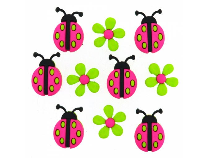 Ladybug Crossing Set of Decorative Buttons фото 1