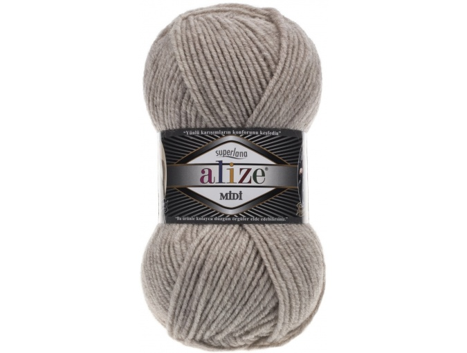 Alize Superlana Midi 25% Wool, 75% Acrylic, 5 Skein Value Pack, 500g фото 17