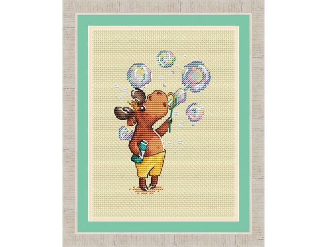 Elk Booklet. In Bubbles Cross Stitch Pattern фото 1