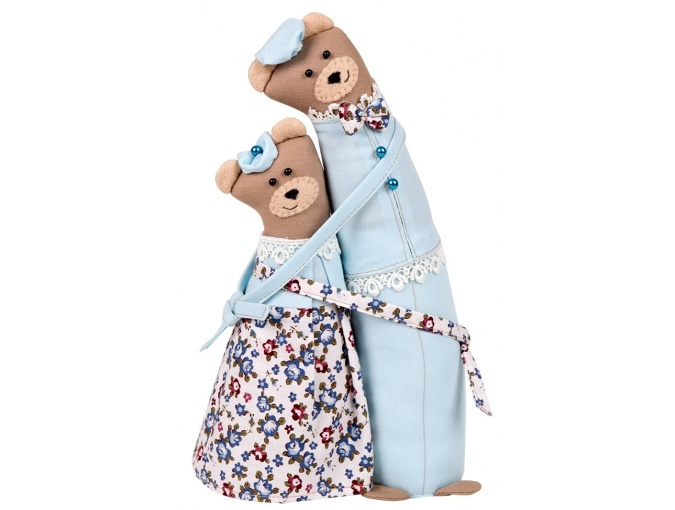 Bear Couple Toy Sewing Kit фото 1