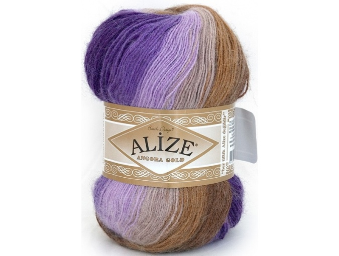 Alize Angora Gold Batik, 10% mohair, 10% wool, 80% acrylic 5 Skein Value Pack, 500g фото 20
