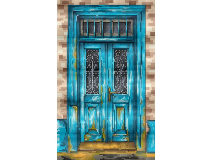 Blue Door Cross Stitch Pattern фото 1