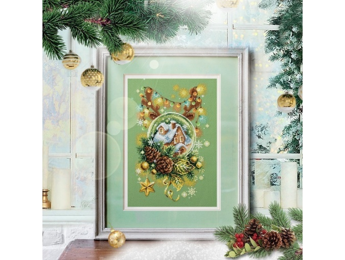Light Christmas Cross Stitch Kit фото 9