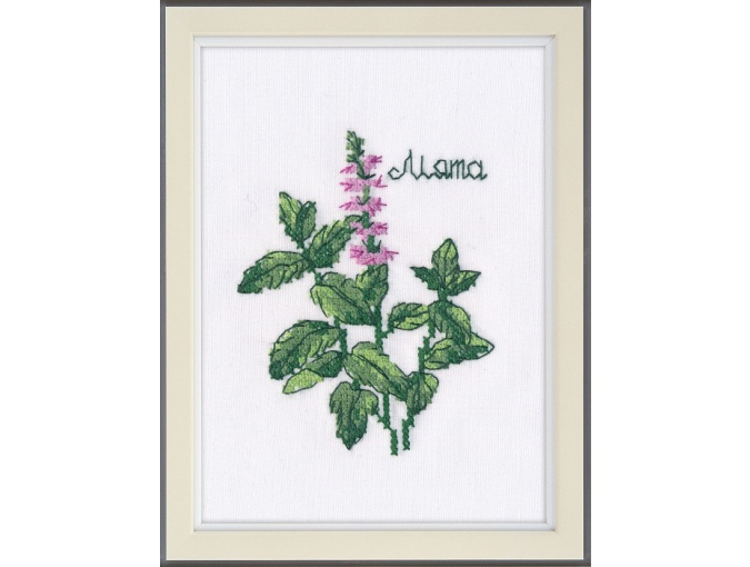 Spearmint Cross Stitch Kit фото 1