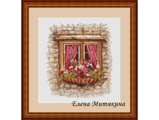 Cozy Window Cross Stitch Pattern фото 1