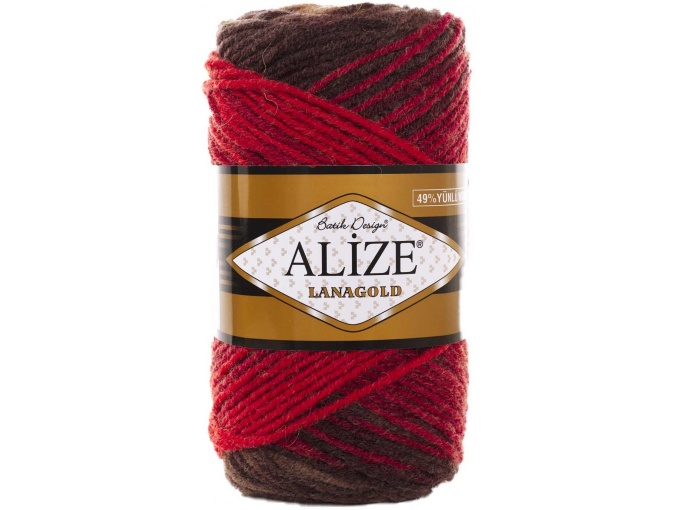 Alize Lanagold Batik 49% Wool, 51% Acrylic, 5 Skein Value Pack, 500g фото 18