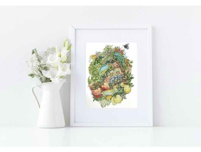 Chameleons Cross Stitch Pattern фото 2
