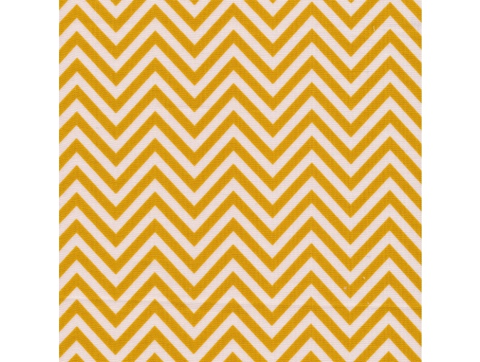 Fat Quarter Peppy, print Bright Yellow Zigzag фото 1