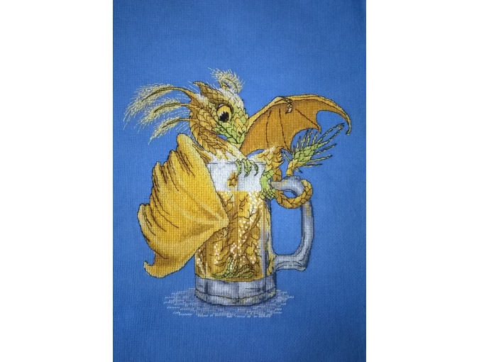 Beer Dragon Cross Stitch Pattern фото 3