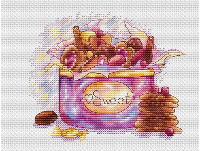 Sweet Box Cross Stitch Pattern фото 1