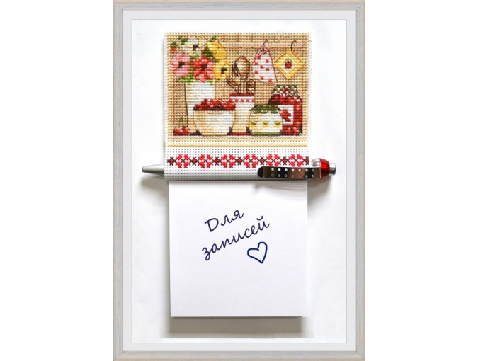 Magnet with a Notepad Cross Stitch Kit фото 1