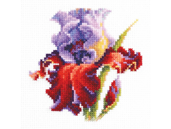Purple Iris Cross Stitch Kit фото 1