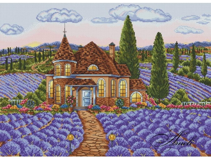 Dawn in the Lavender Valley Cross Stitch Pattern фото 2
