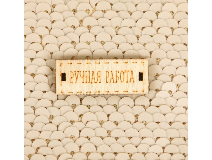 Cream/Gold Sequins Patchwork Fabric фото 3